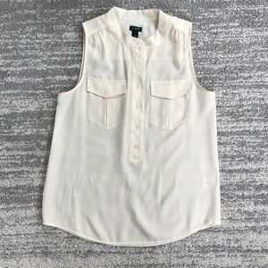 J. Crew Off White Tank Top Blouse